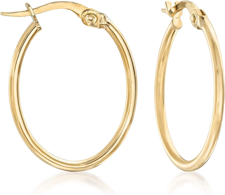 Ross-Simons Italian 18kt Yellow Gold Oval Hoop Earrings