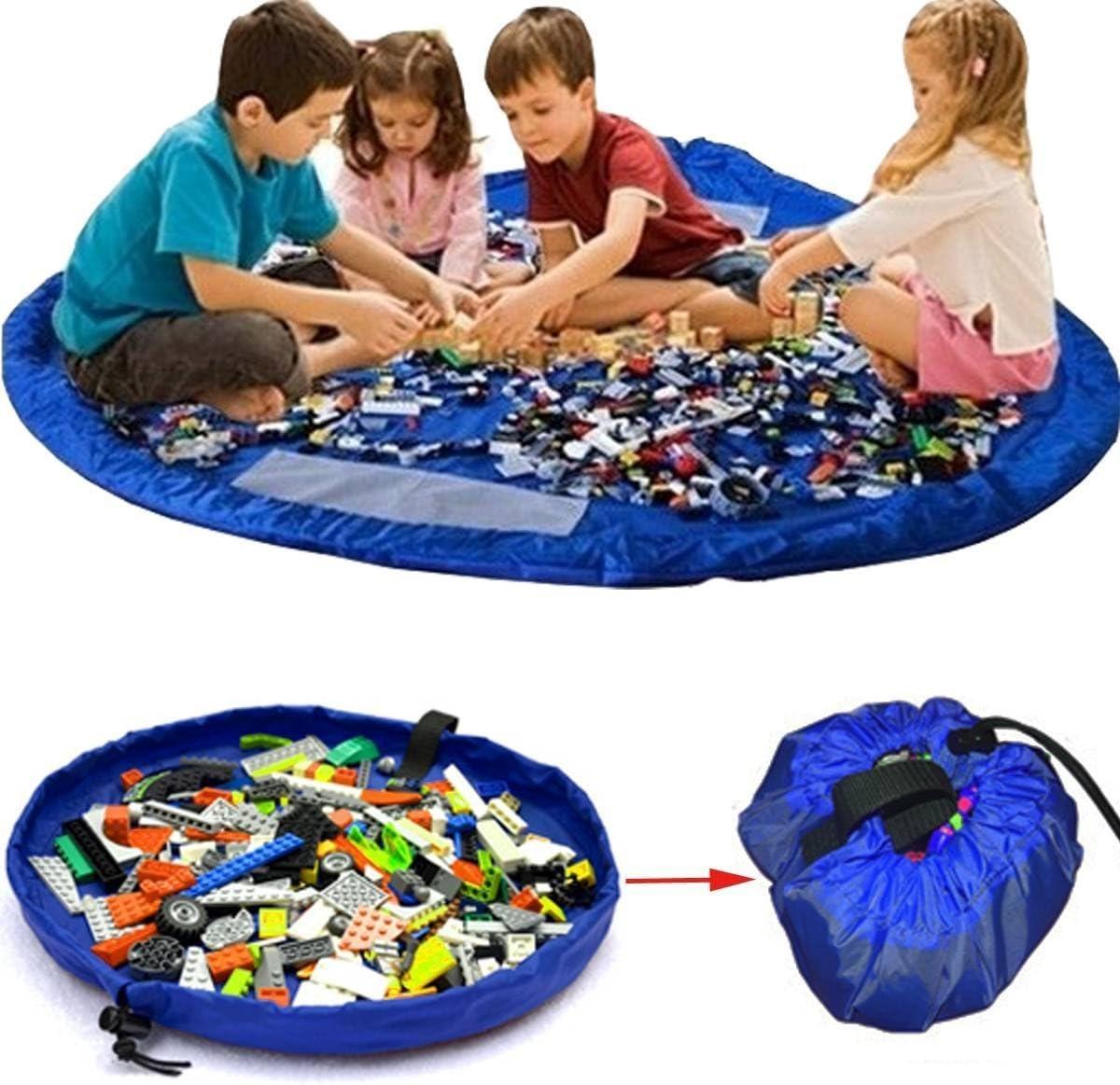 Sweetsmile Toy Storage Bag Large Tidy Bag Kids Rug Portable Kids Toys Organizer Storage Drawstring Bag Play Mat 150cm Hero