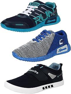 Earton Men Combo Pack of 3 Sports Running Shoe with Casual Shoe