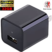 Wall USB Hidden Spy Camera - Concealed Indoor Nanny Camera with 32GB Memory - Motion Activated Video Surveillance by DuddyCam