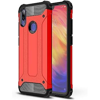 AOBOK Funda Xiaomi Redmi Note 7, Rojo Moda Armadura Híbrida ...