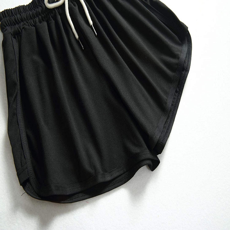 Gym Workout Athletic Elastic Waist Shorts Sleep /& Lounge Retro Hot Pants Womens Yoga and Running Shorts