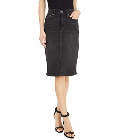LAUREN Ralph Lauren Denim Skirt (Skyline Black Wash) Women