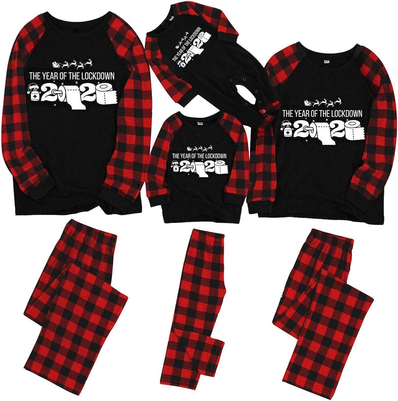 Xiangdanful Christmas Matching Pajamas Set for Family PJS Sleepwear Xmas Nightgown Holiday Family Matching Nightshirt Set 1