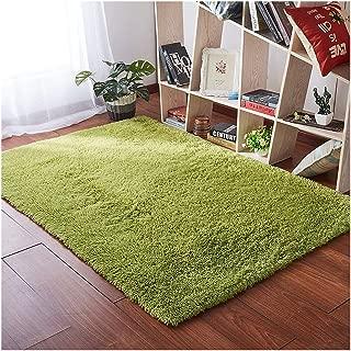 Softlife Fluffy Area Rugs for Bedroom 4' x 5.3' Shaggy Floor Carpet Cute Rug for Girls Kids Living Room Nursery Home Decor, Fresh Green