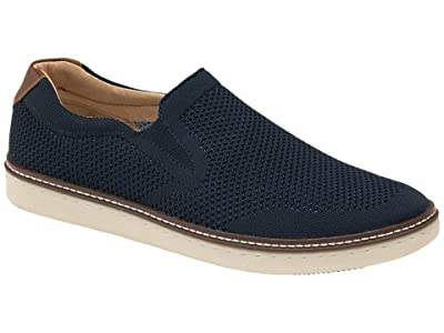 Johnston & Murphy McGuffey Slip-On Knit Sneaker (Navy) Men
