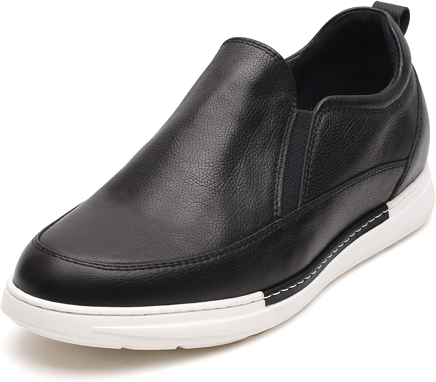 CHAMARIPA Men's Height Increasing Elevator Shoes Dress Shoes Slip On Square Toe Loafer Business Shoes 2.36'' Taller H01YLK67611