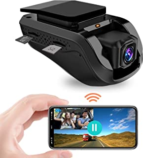 Máy thâu hình đặt trên xe ô tô – Dual Dash Cam, JimiIoT 3G WiFi Dash Camera with Remote Live Video for Car 1080P Night Vision Front Cabin GPS Camera, G-Sensor, Loop Recording, Vibration Alarm, Free 16GB TF Card & APP fro iOS/Android