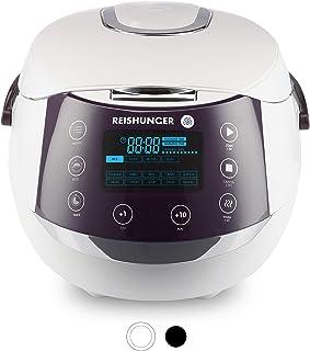 Reishunger - Hervidor de arroz/Arrocera digital (1,5 l/860 W/220 V) Hervidor multifunción con 12 programas, con temporizador y función de conservación del calor - Arroz hasta para 8 personas