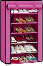 Ebee Shoe Cabinet with 6 Shelves (Pink)