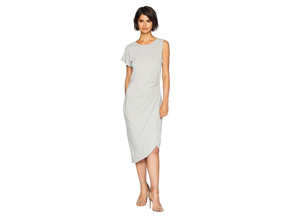 Sanctuary Salma Asymmetric Midi Dress (Heather Grey) Women