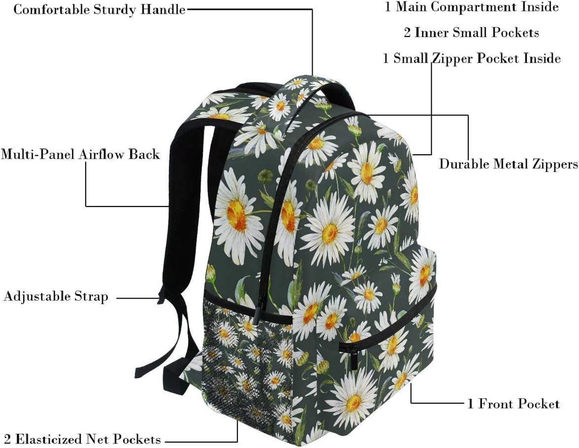 Oarencol Magic Dark Dragon Galaxy Space Black Backpack Bookbag Daypack Travel School Bag