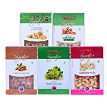 Nutraj Signature Dried Fruits Combo Pack 1 Kg (Almonds Plain 200g, California Walnuts 200g, R&S Pistachios 200g, Plain Cashews 200g, Raisins 200g)