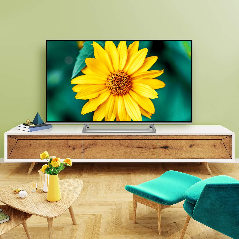 Hisense H65BE7400 Smart TV 65 4K Ultra HD, 3 HDMI, 2 USB, Salida Óptica, WiFi, Bluetooth, Dolby Vision HDR, Wide Color Gamut, Audio Dts, Procesador Quad Core, Smart TV VIDAA U 3.0