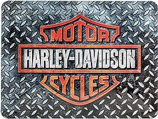 Nostalgic-Art Metalen Retro Bord, Harley-Davidson – Diamond Plate – Geschenkidee voor motorfans, van metaal, Vintage ontwe...