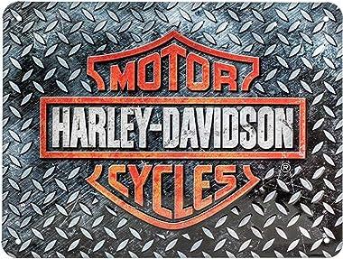 Nostalgic-Art 26250 Harley-Davidson – Diamond Plate – Idée de Cadeau pour Fans de Moto, en métal, Déco Design Retro, 15 x 20