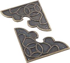 2 stuks Antieke hoeken Antiek Brons Sieraden Doos Hoek Decor Been Voet Guard Houten Case Meubels Metalen Hoekbeschermer Me...