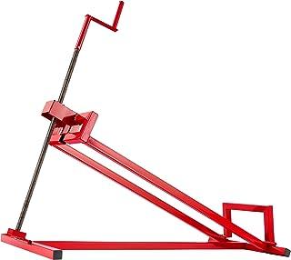 AREBOS Elevador de Tractor Dispositivo de elevación | 400 kg | Rojo | Ángulo de inclinación: 45°