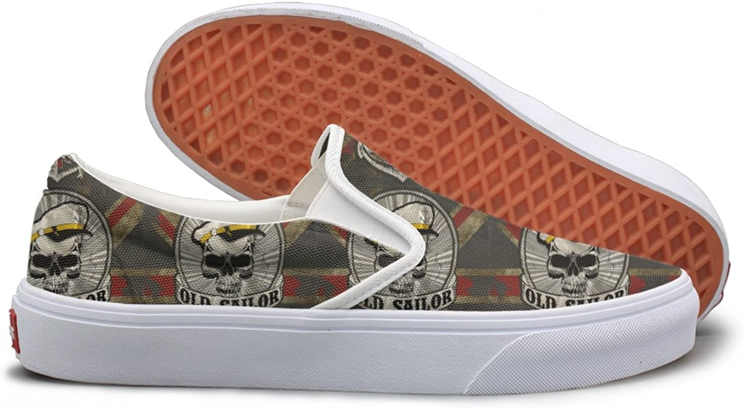 SEERTED Sailor Man Skull Skull Pirate Flag Canvas shoes Women Casual