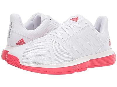 adidas CourtJam Bounce (Footwear White/Footwear White/Shock Red) Men