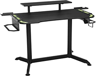RESPAWN 3010 Gaming Computer Desk - Ergonomic Height Adjustable Gaming Desk, in Green
