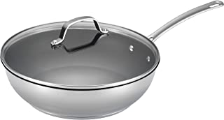 Circulon Genesis Stainless Steel Nonstick 12.5-Inch Covered Deep Skillet - 77887