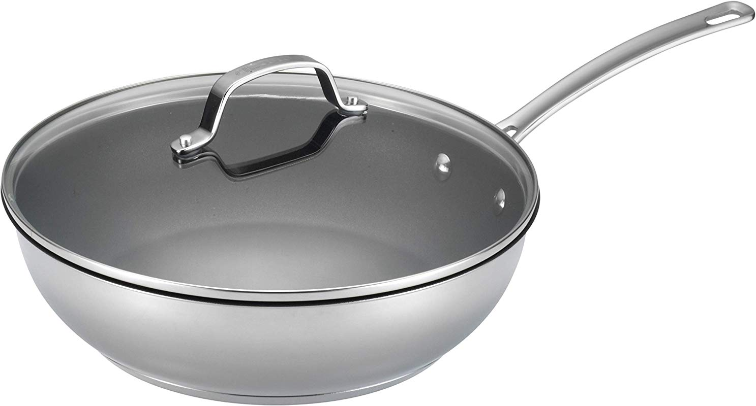 Circulon Genesis Stainless Steel Nonstick 12 5 Inch Covered Deep Skillet