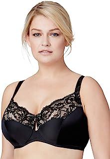 Bramour by Glamorise Womens 7006 Full Figure Luxury Underwire Low Cut Keyhole Bra - Tribeca #7006 Full Coverage Bra