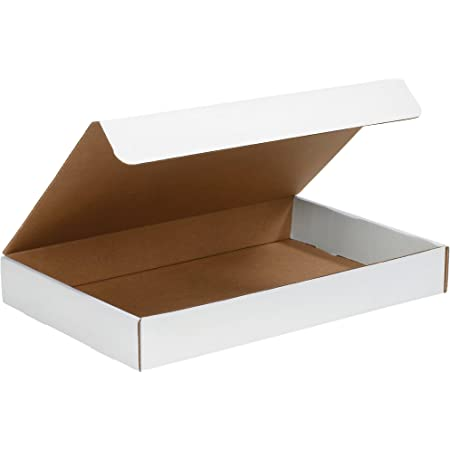 BSMFL1292 50-Count The Packaging Wholesalers 12-1//8 x 9-1//4 x 2 Inches Front Lock Deluxe Literature Mailer