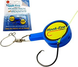 HOOK-EZE Fishing Knot Tying Tool for Fishing Hooks All in...