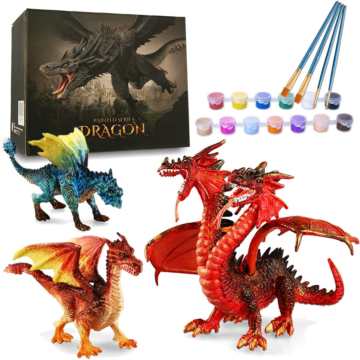 23. DIY 3D Dragon Painting Craft Kit
