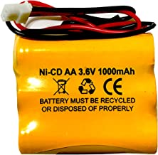 Saft B15CS03 Emergi-Lite C8 3.6v 1000mAh Ni-Cd Battery Replacement for Emergency and Exit Light White Connector Ni-Mh Battery Replacement