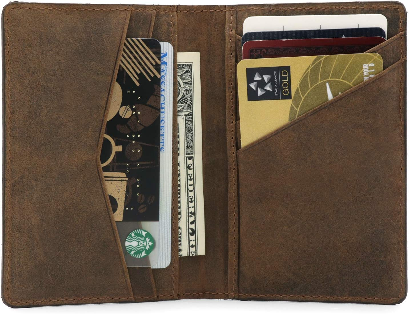 Otto Angelino Genuine Leather Bifold Card and Cash Wallet – Unisex