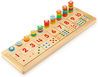 Boxiki kids Wooden Puzzle and Counting Board Game Learning Games Boost Kid's Intelligence. Montessori, Kindergartens & Pre...