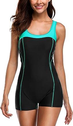 35da2010618 Anwell Womens Athletic One Piece Swimsuit Sports Racerback One Piece  Swimwear