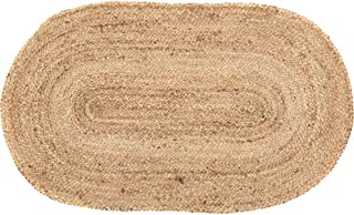 VHC Brands 20390 Coastal Farmhouse Flooring-Natural Jute Tan Oval Rug, 20 x 30, Non-Stenciled