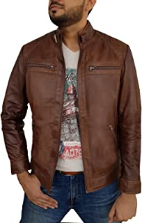 Urban Leather Factory Men's Hunt Distressed Brown Real Lambskin Leather Jacket