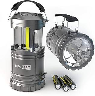 HeroBeam LED Lantern V2.0 with Flashlight - Latest COB Technology emits 300 LUMENS! - Collapsible Camp Lamp - Great Light ...