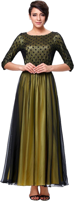 CK sky Women's Black Mother of the Bride Lace Formal Vestido de Madrinha Vintage Half Sleeve Mothers Bridal Dress