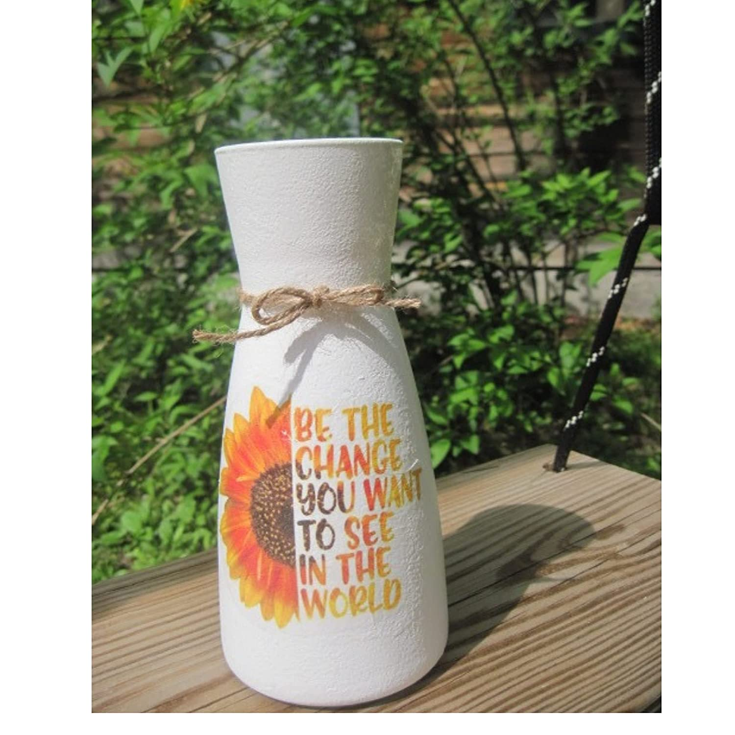 Be Max 77% OFF the Gorgeous change flower painted vase with butterfly and sunflower