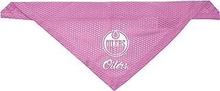 Littlearth Edmonton Oilers Dog Cat Mesh Jersey Bandana Pink S/M