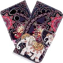 جراب HMTECH Sony Xperia L2 مطبوع عليه Flamingo Retro Panda Floral Wallet Folio من جلد البولي يوريثان مع فتحات حامل للبطاقات غطاء حماية كامل للجسم لهاتف Sony Xperia L2