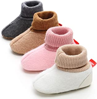 Unisex Baby Newborn Cozie Cotton Booties Infant Socks Soft Sole Baby Shoes