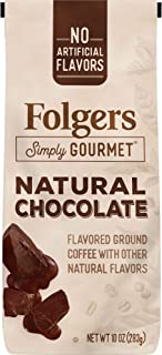 Folgers Simply Gourmet Flavored Ground Coffee with Other Natural Flavors, Chocolate, 10 Ounce, Packaging May Vary