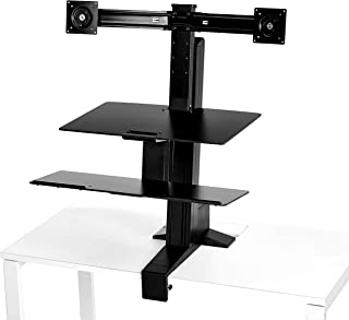 AmazonBasics Ergonomic Standing Desk Work Station for Dual Monitor and Keyboard