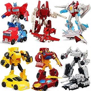GiGimelon Set of 6 Pcs Car Robot Toys, Action Figures, 5