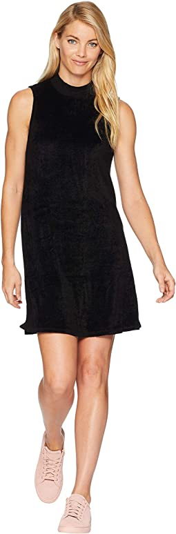 Vali Velvet Swing Mock Neck Dress