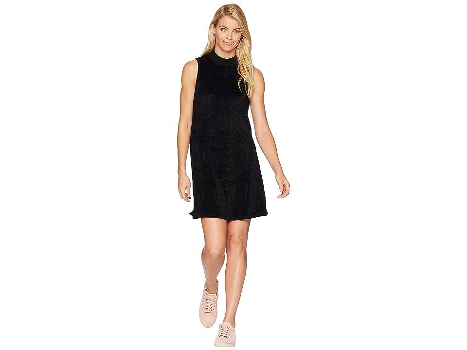 Michael Stars Vali Velvet Swing Mock Neck Dress (Black) Women