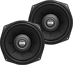 Earthquake Sound X84SWS 8-inch Shallow Woofer System Under-the-Seat Subwoofers with Gaskets, 4-Ohm (Pair)