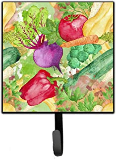 Caroline's Treasures BB7572SH4 Watercolour Vegetables Farm to Table Leash or Key Holder , 7Hx4.25W, multicolor